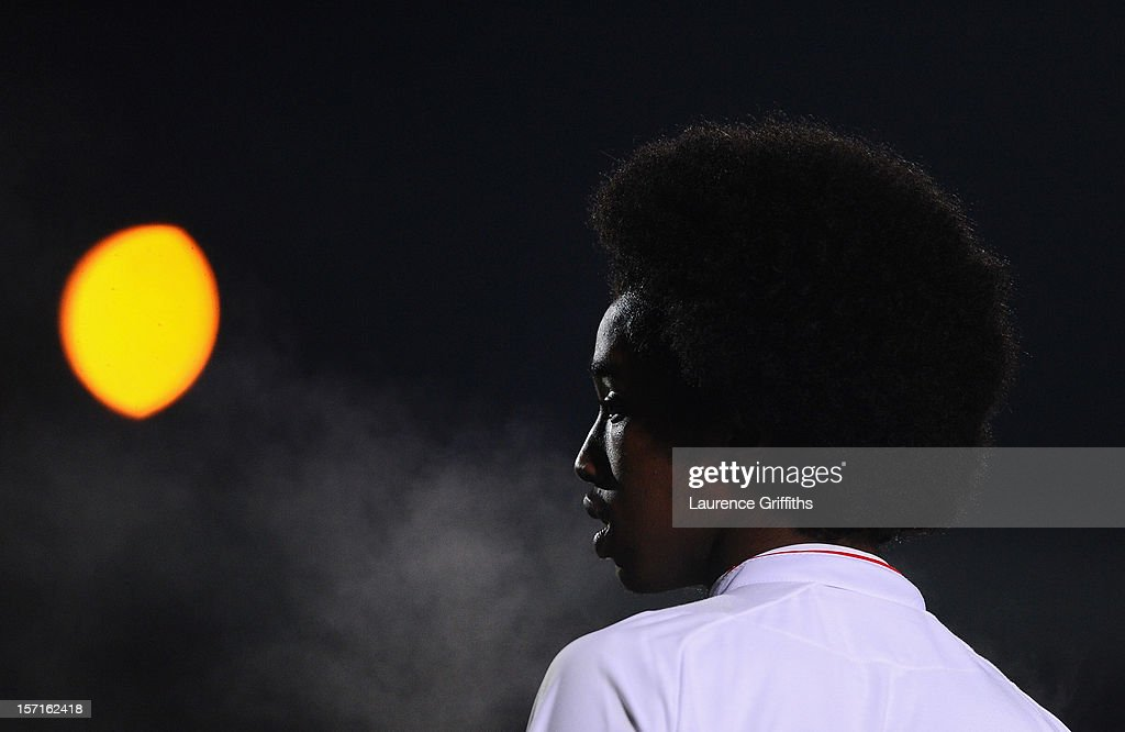 Mukhtar Ali of England looks on during the The Sky Sport Victory Shield match between England u16 and Scotland u16 at Pirelli Stadium on November 29, 2012 in Burton-upon-Trent, England.