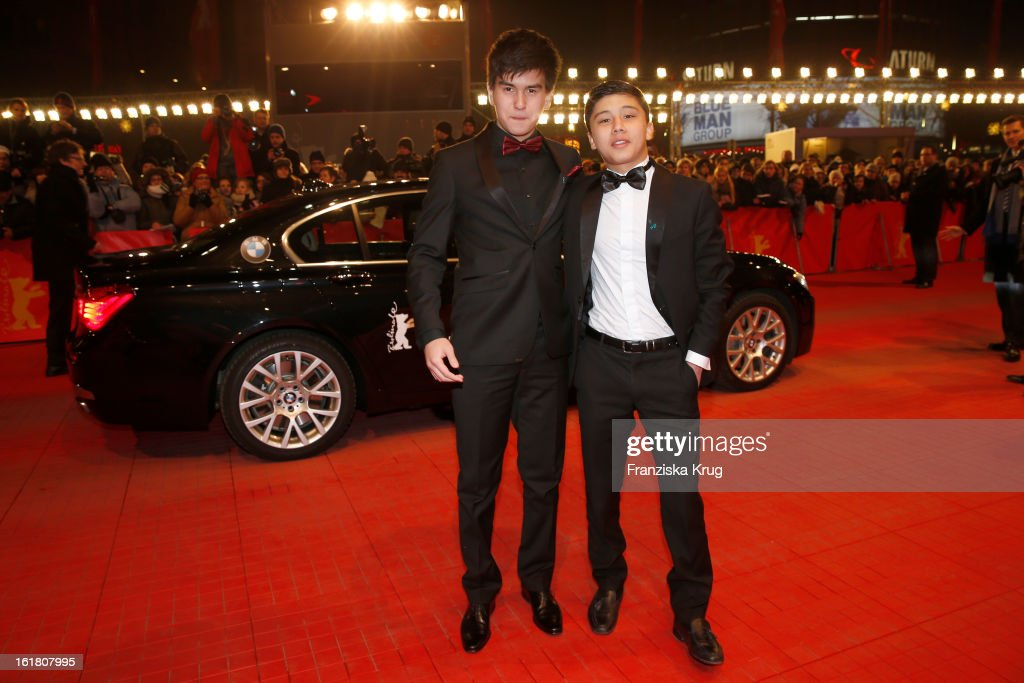 Mukhtar Anadassov (L) and Timur Aidarbekov attend the Closing Ceremony Red Carpet Arrivals - BMW At The 63rd Berlinale International Film Festival at Berlinale-Palast on February 16, 2013 in Berlin, Germany.