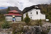 Muktinath, sacred precinct, Tibetan Buddhist templ