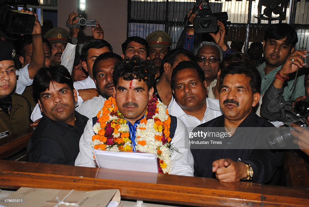 Mukul Upadhaya Bahujan Samaj Party candidate from Ghaziabad Lok Sabha constituency for the 2014 Lok Sabha election filed his nomination papers at...