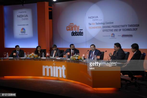 Mukund Rajan Managing Director of Tata Teleservices Ltd Bindu Ananth President of IFMR trust D Shivakumar VP and Managing Director at Markets of...