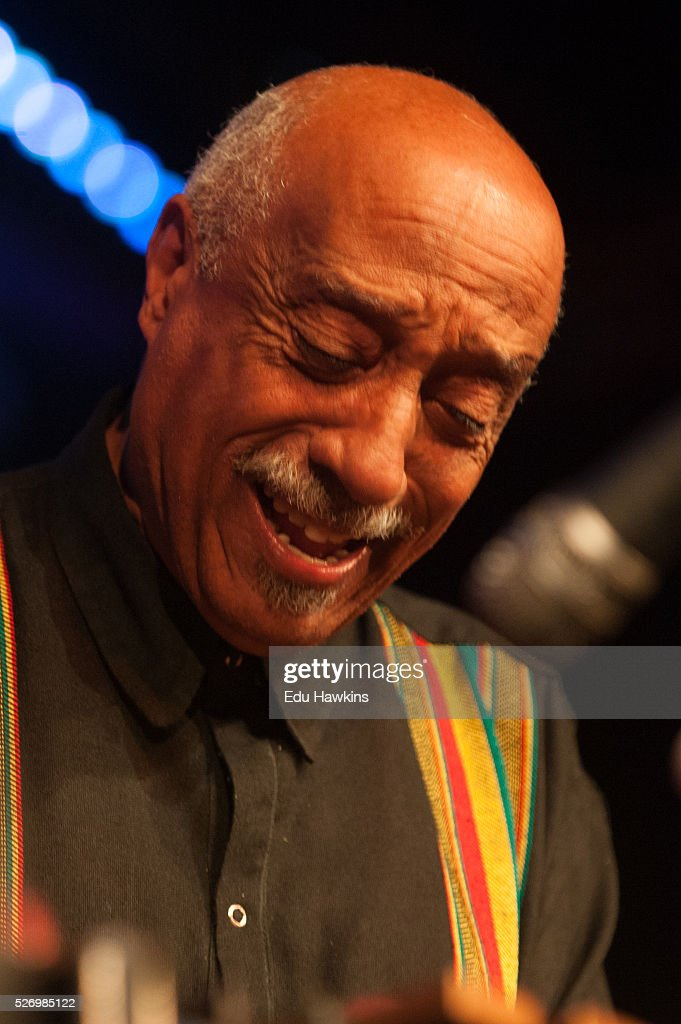 Mulatu Astatke performs live on stage at the Chletenham Jazz Festival on May 1, 2016 in Cheltenham, England.