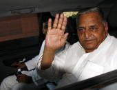 Mulayam Singh Yadav at Parliament for the Women�s Bill session in New Delhi on Monday March 8 2010