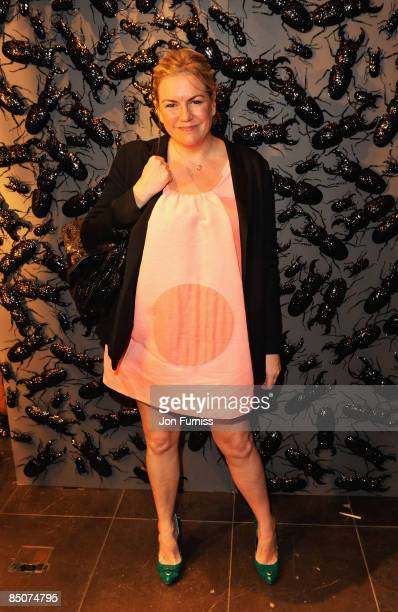 Mulberry Creative Director Emma Hill attends the Mulberry London Fashion Week Party at the Mulberry Store New Bond Street on February 23 2009 in...