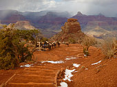 South Kaibab of the Grand Canyon has daily mule trains.