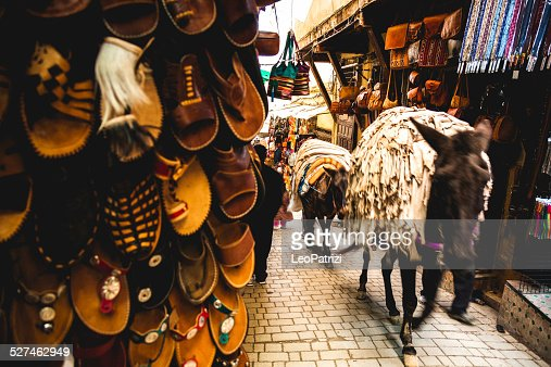 Mule transportation in Fez Medina streets