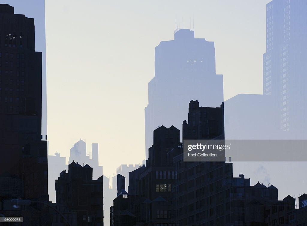 Mulitiple exposure image of Midtown New York. : Stock Photo
