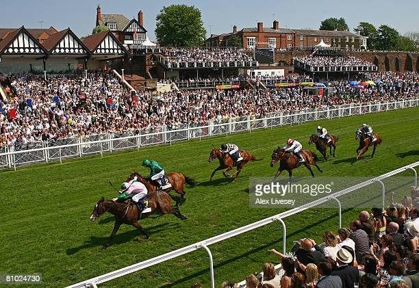 Mull Of Dubai ridden by John Egan wins the Bank of Ireland Handicap Stakes held at Chester Racecourse on May 8 2008 in Chester England