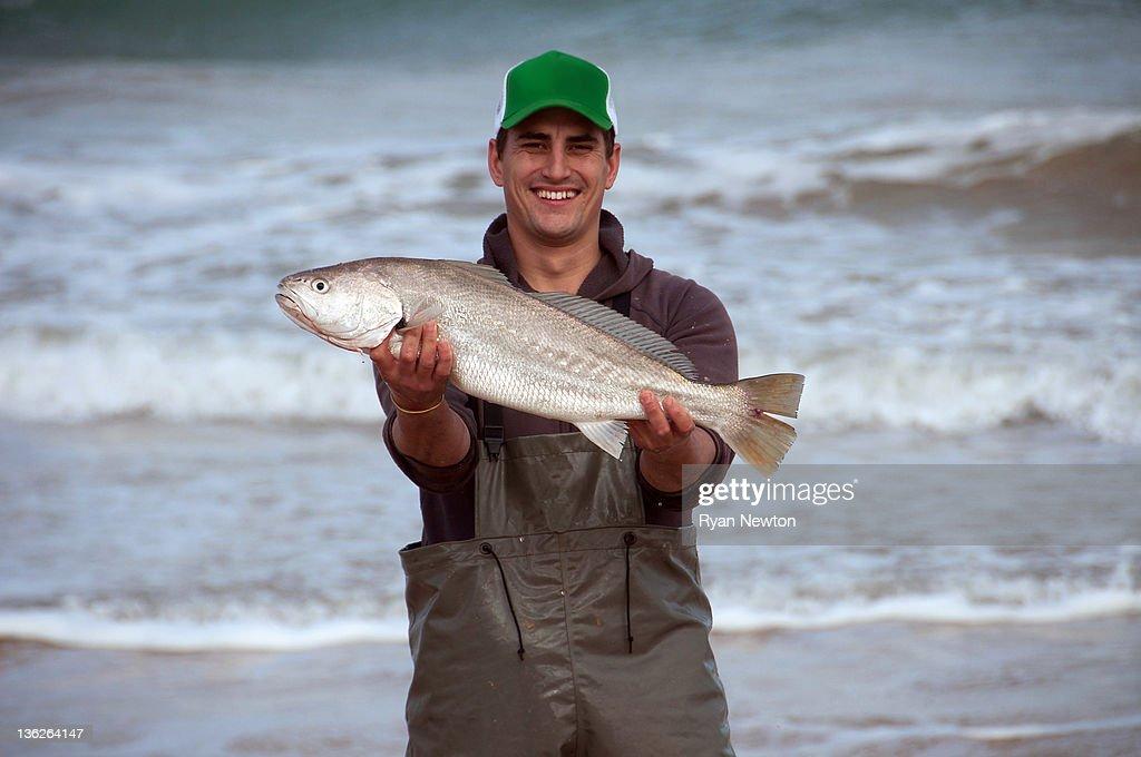 Mulloway fisherman : Stock Photo