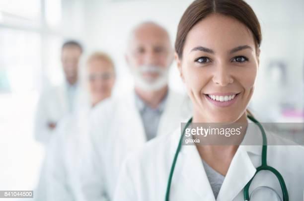 Multi aged team of doctors.
