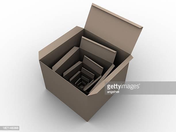 Multi cardboard boxs