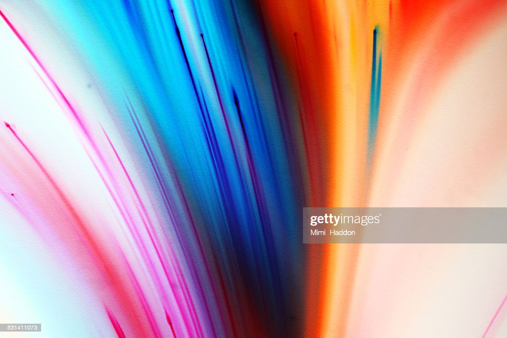 Multi Color Dyes Exploding in Liquid : Stock Photo