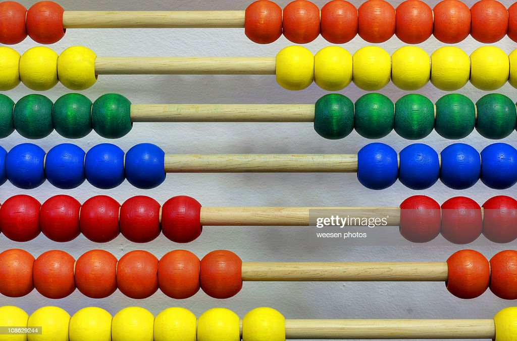 Multi colored abacus