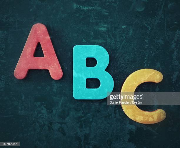 Multi Colored Alphabets On Blackboard