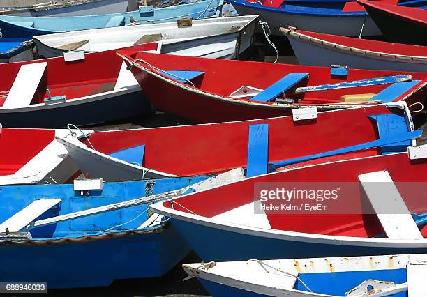 Multi Colored Boats In Water