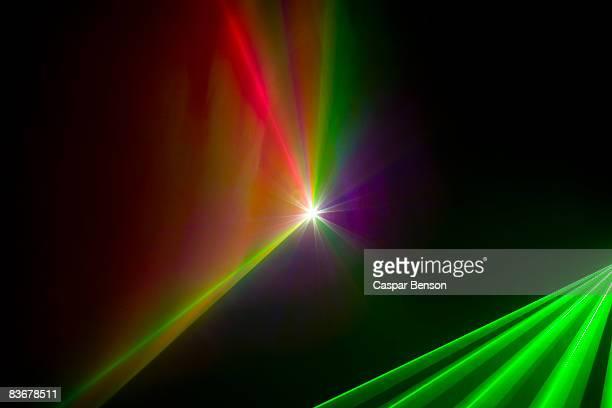 Multi colored laser lights