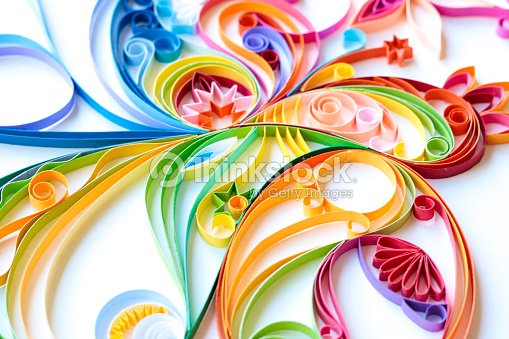 multi colored paper quilled pattern stock photo thinkstock