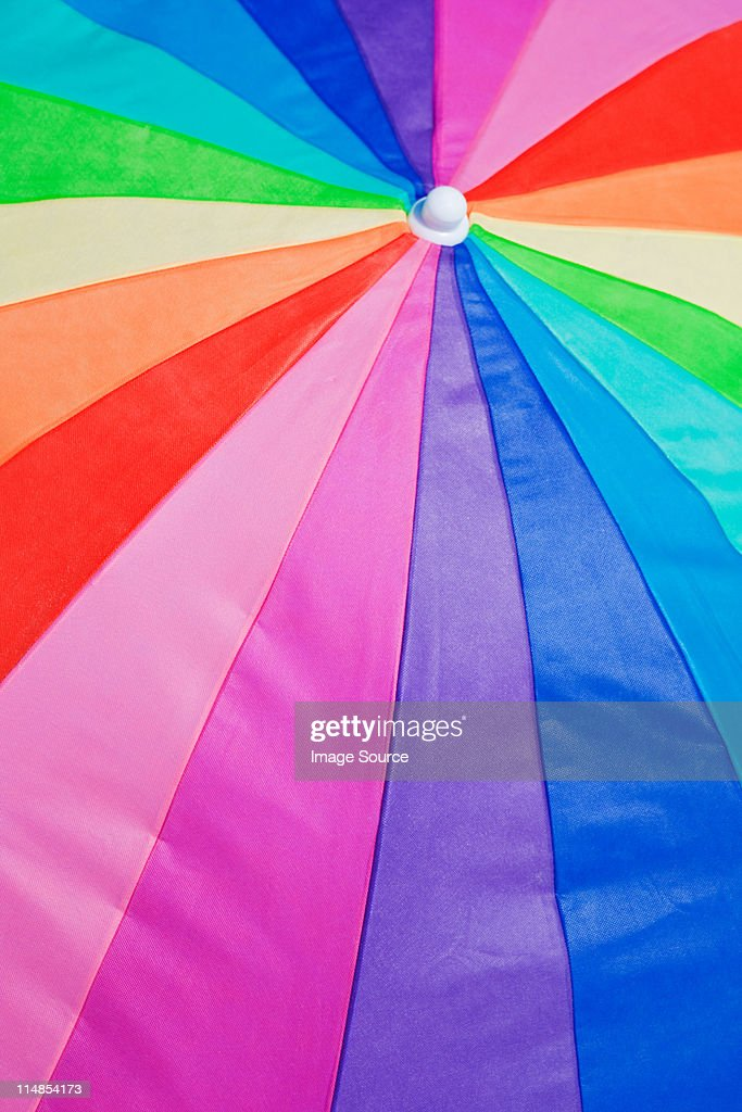 Multi colored parasol : Stock Photo
