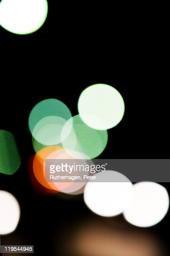 Multi colored reflection of city : Stock Photo