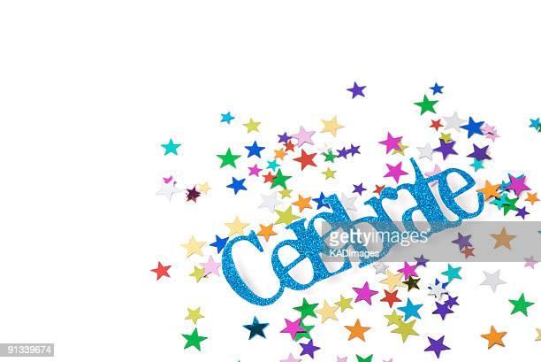 Multi Farbige Sterne-Konfetti