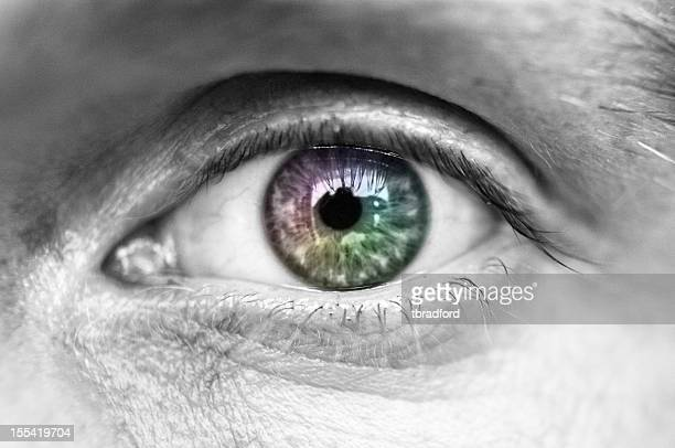Multi colorate occhio umano