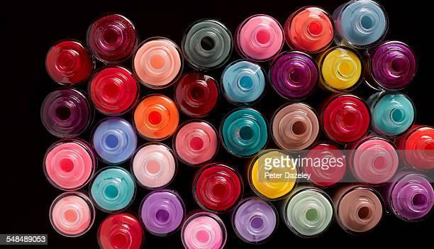 Multi coloured nail varnish