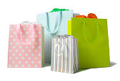 Multi Coloured Paper Carrier Bags