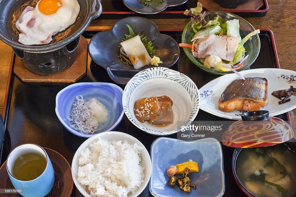 Multi course breakfast : Stock Photo