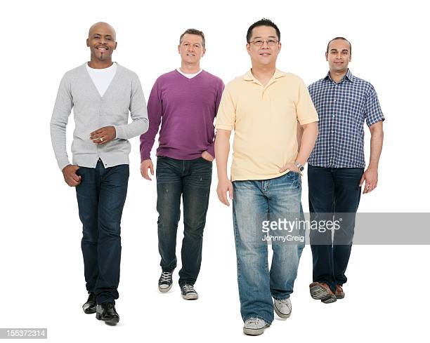 Multi Ethnic Men Walking