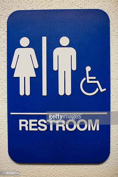 multi gender restroom sign. Restroom Sign Stock Photos and Pictures   Getty Images