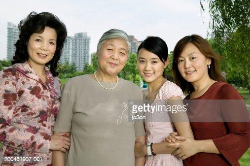 Multi generational female family, portrait : Stock Photo