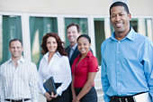Multi Racial Group of Business People, Portrait