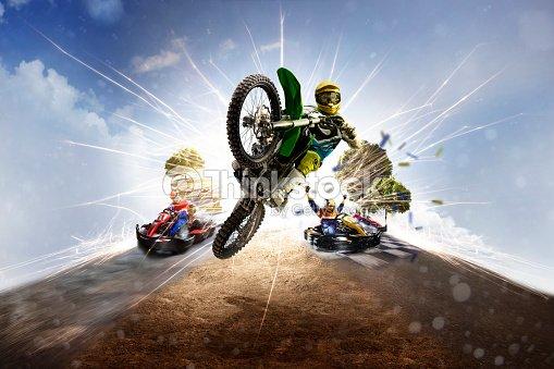Multi sports motorsport collage dirt bike karting