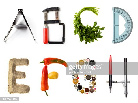 Multi style alphabet