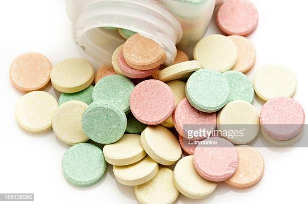 Multicolor Antiacid Tablets
