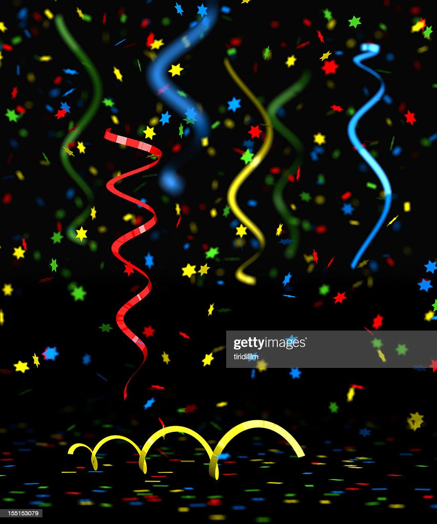Confettis multicolores : Photo
