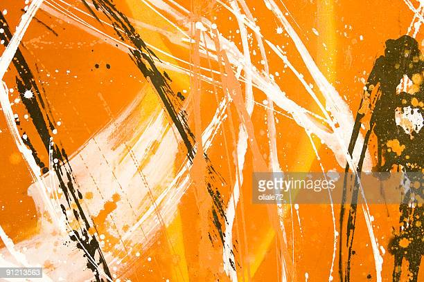 Multicolor Graffiti Background, Full-frame Image with Vivid Colors