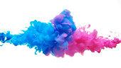 Multicolor liquid impact.