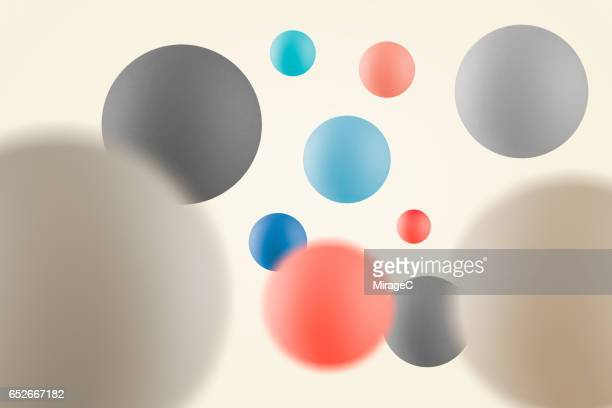 Multi-colored Balls in Mid Air