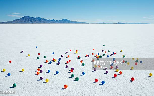 Multi-Colored Balls on Salt Flats
