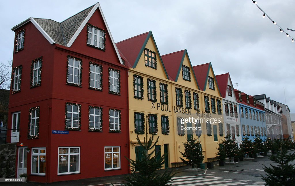 Multicolored buildings stand in Torshavn, the capital of the Faroe Islands, under the sovereignty of Denmark, on Monday, Dec. 3, 2012. A proposed plan would decipher the complete DNA sequence of the 50,000 citizens of this tiny, windswept land halfway between Scotland and Iceland, from its fishermen to the prime minister. Scientists already see the Faroes becoming a model for the use of human genomes. Photographer: John Lauerman/Bloomberg via Getty Images
