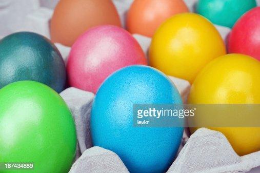 multicolored ovos de Páscoa : Foto de stock