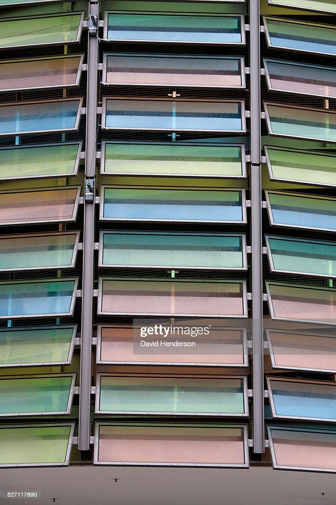 Multicolored glass windows : Foto stock