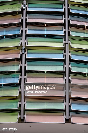 Multicolored glass windows : Stock Photo