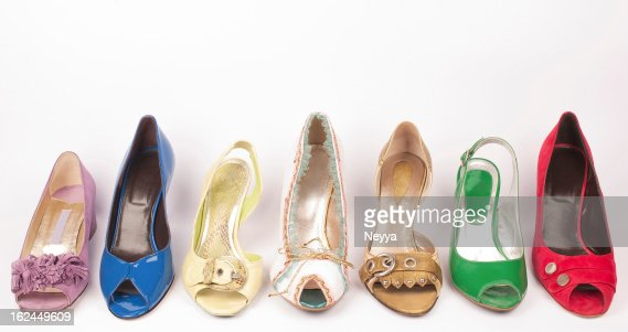 Multicolored High Heels Shoes