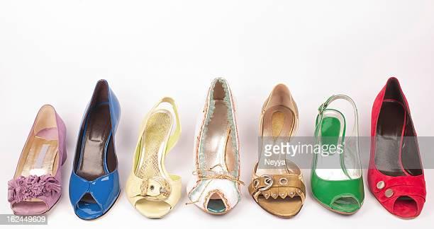 Mehrfarbiges High Heels Schuhe