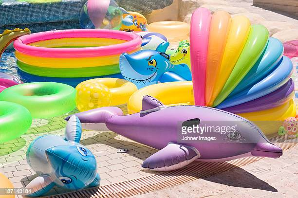 Multicolored inflatable water toys