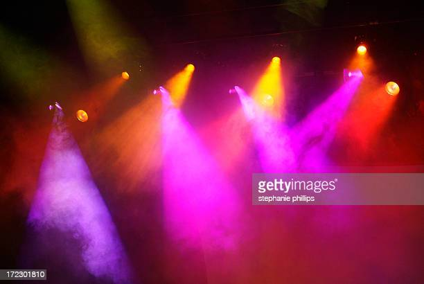 Multicolored Orange, Pink and Red Stage Lights with Fog