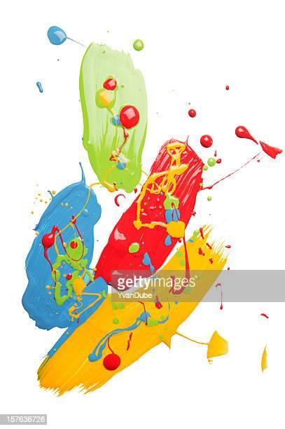 multi-colored paint blob(w/path)