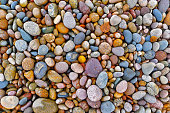 Photograph of colorful pebbles and rocks.